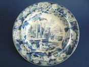 Rare Don Pottery 'Named Italian Views - Temple of Serapis' Pearlware Soup Plate c1820